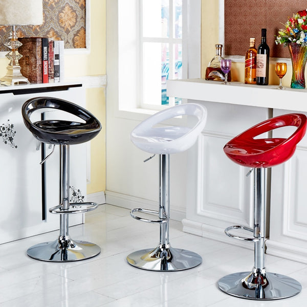 2Pcs ABS Bar Chair Nordic Simple Bar Stool Coffee Home Dining Bar Chair Back High Stool Bar Stool Kitchen Chair Furniture HWC