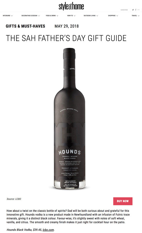 Style at Home Father's Day Guide Hounds Black Vodka