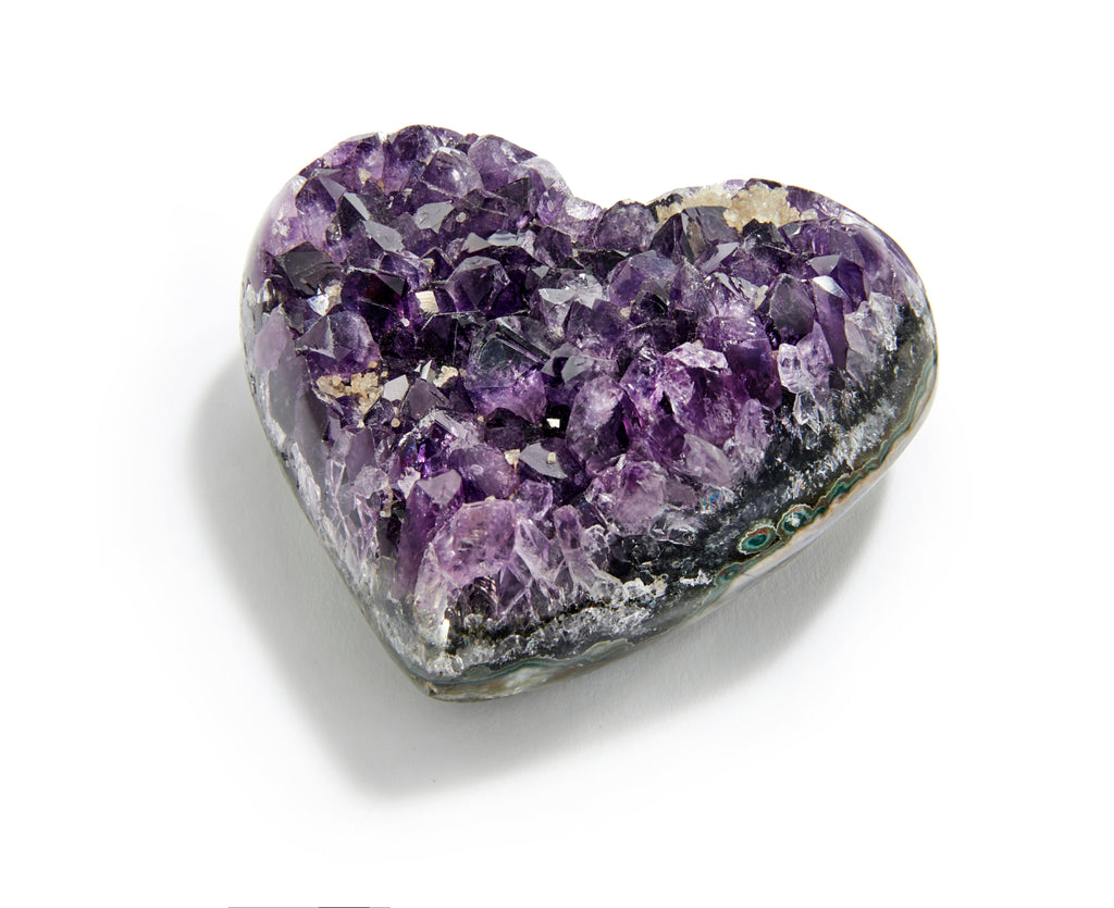 Raw Amethyst Heart