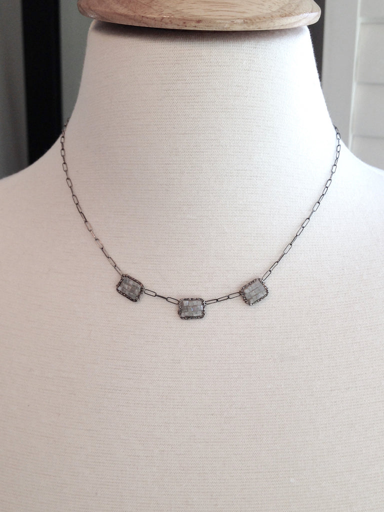 Diamond Mosaic Necklace