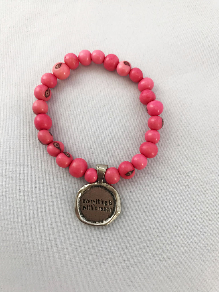 Everything is within reach acai seeds of life bracelet