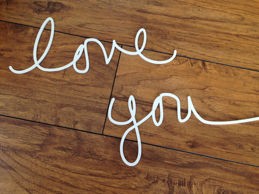 Love You - Salvaged Plastic Word