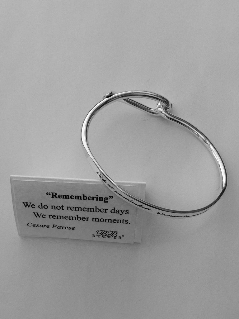 Remembering - Loop Sterling Silver Bracelet