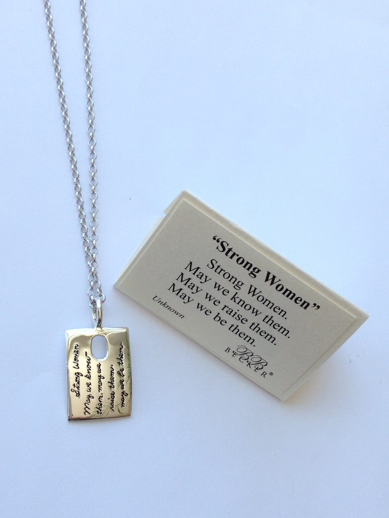 Strong Women - Sterling Silver Pendant