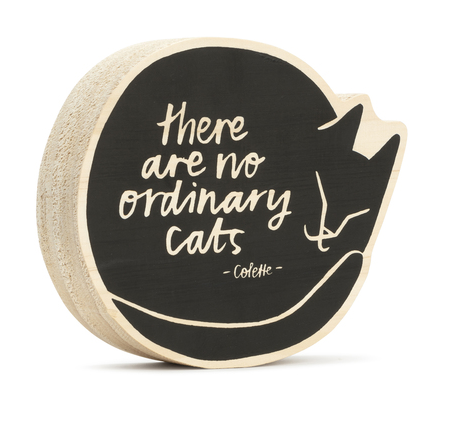 There are No Ordinary Cats - Wood Art