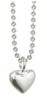 Mini Heart Necklace - Silver