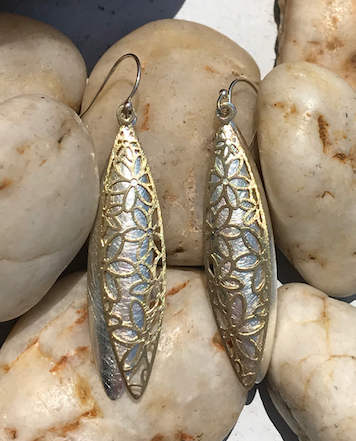 Silver and Gold Earring