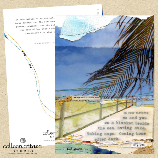 Colleen Attara handmade cards set of six