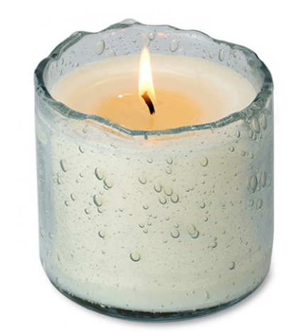 Evergreen holiday scent glass candle by Himalayan Trading Post