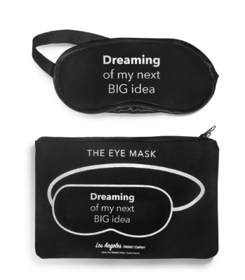 Eye Mask - Dreaming of my next big idea by LA Trading Co