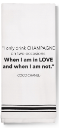 Drink Champagne Dish Towel