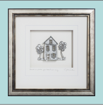 Pewter Cottage Frame by Cynthia Webb