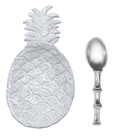 Pineapple canape dish with spoon by mariposa