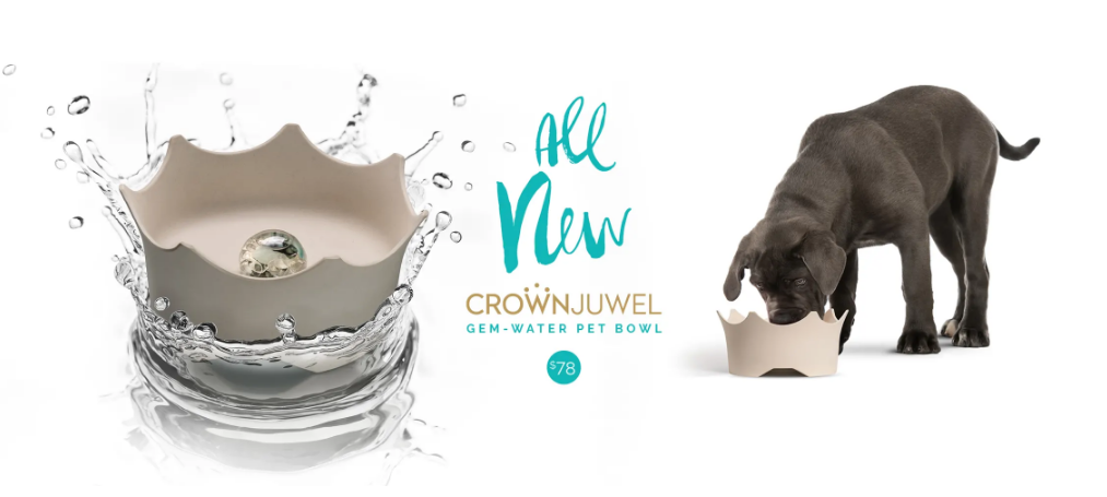 Gem Water Pet Bowl by VitaJuwel