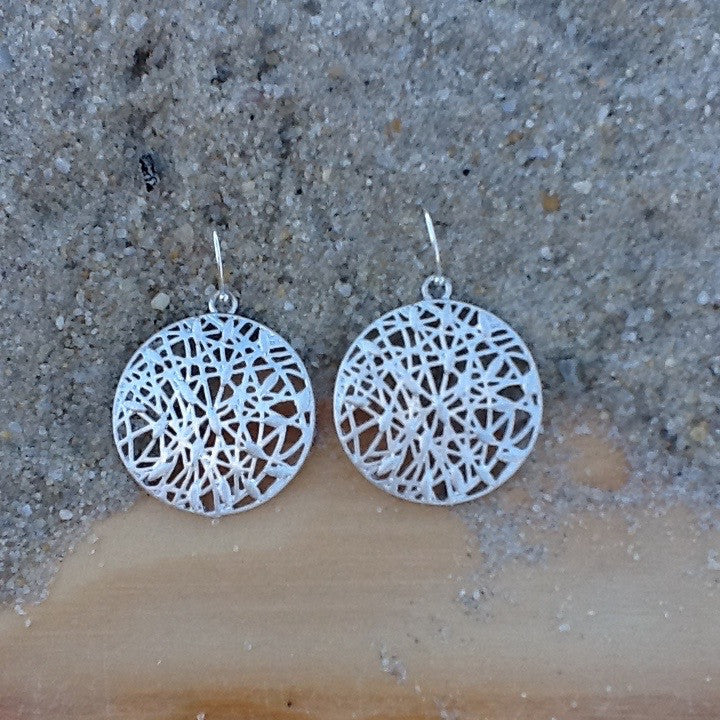 Webbed Circle Earrings