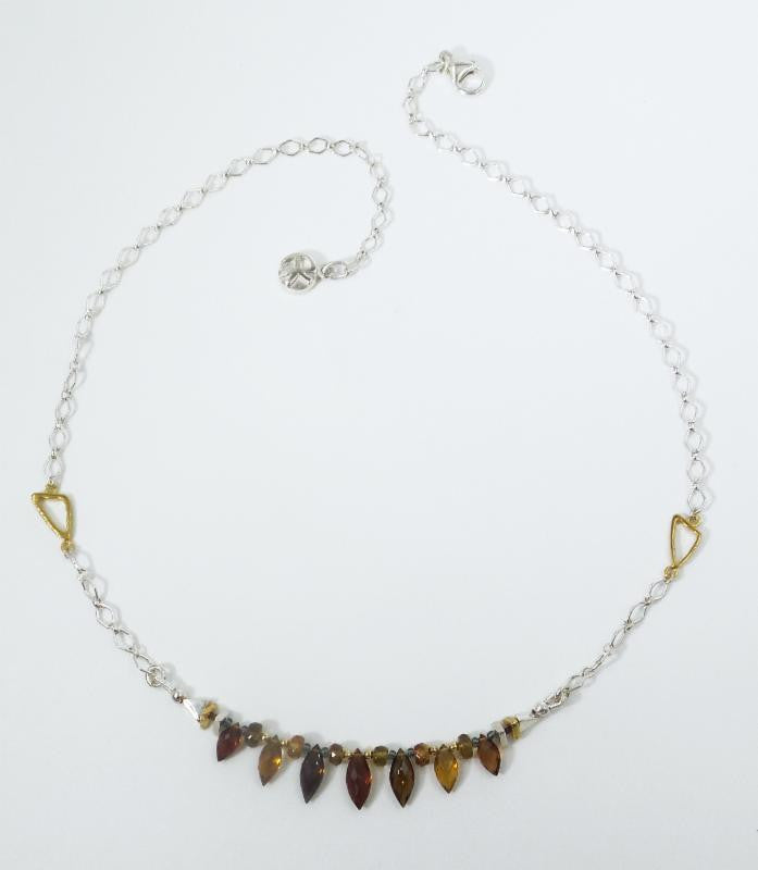 Tourmaline Marquise Briolettte Necklace