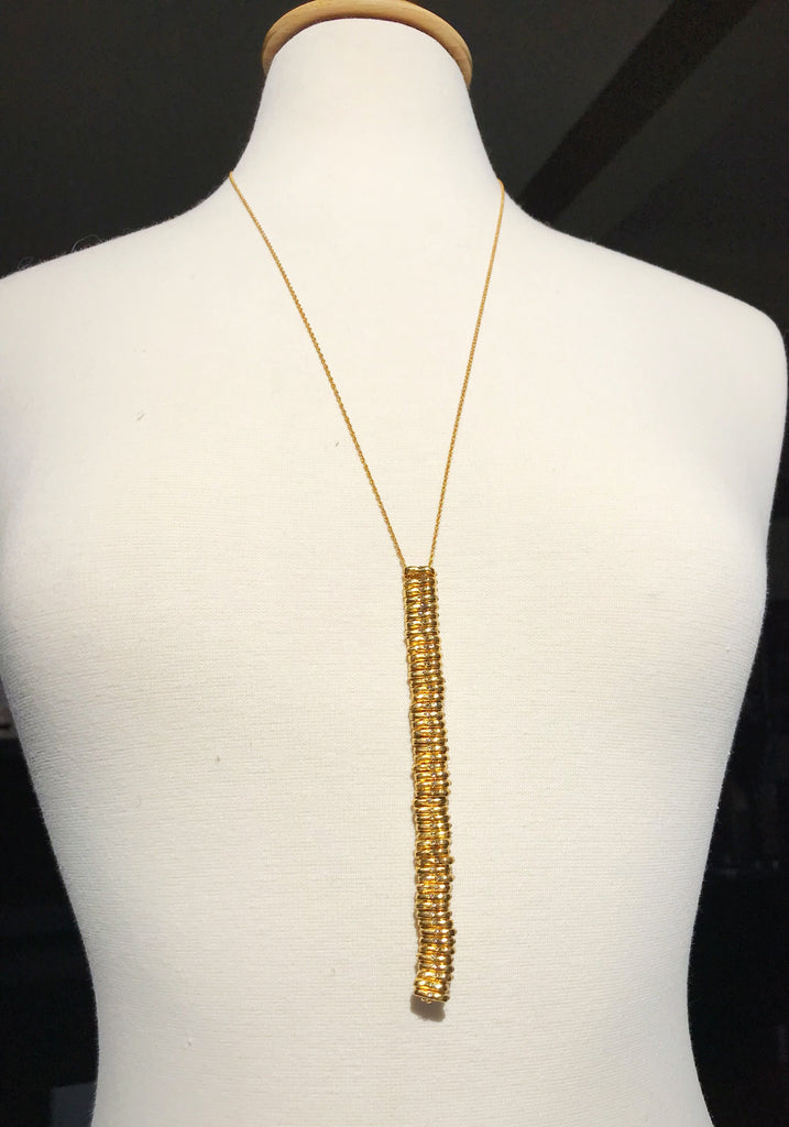 Gold Donut Necklace