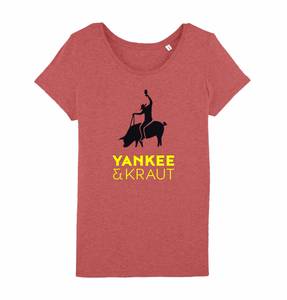 Frauen T-Shirt - Mid Heather Red