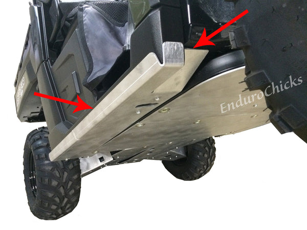 Ricochet Off-Road 2-Piece Aluminum UTV Rock Slider Set for Polaris Ranger Diesel (2015-2016), Part #767FB, Multiple Colors Available