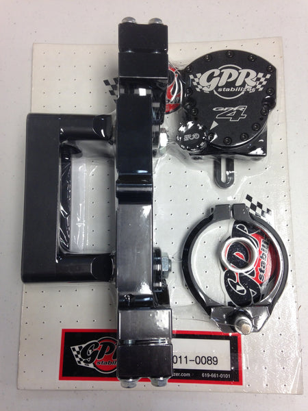GPR V4 Dirt Fat Bar Pro Kit Steering Stabilizer for Yamaha YZ250F/YZ450F (2014-2016), Part # 9011-0089, Multiple Colors Available