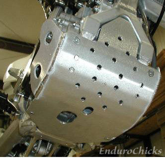 Flatland Racing Aluminum Skid Plate for Kawasaki KX450F (2009-2012), Part #24-49