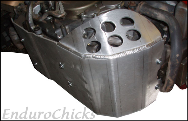 EnduroChicks - Shop for Ricochet Skid Plate Part #434 Mounting pic 2 - Honda XR650R (2000-2007)
