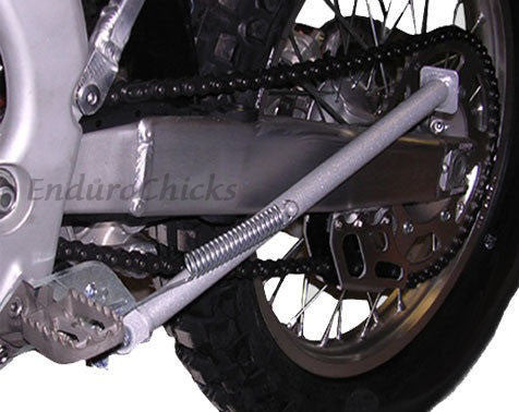 EnduroChicks - Shop for Ricochet Bolt-On Side Stand Part # 040 - Mounting pic2 - Yamaha YZ125  YZ250  YZ250F  YZ450F