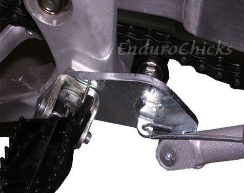 EnduroChicks - Shop for Ricochet Bolt-On Side Stand Part # 044 - Mounting pic3 - Suzuki RMZ250 (2007-2013) & RMZ450 (2005-2007)