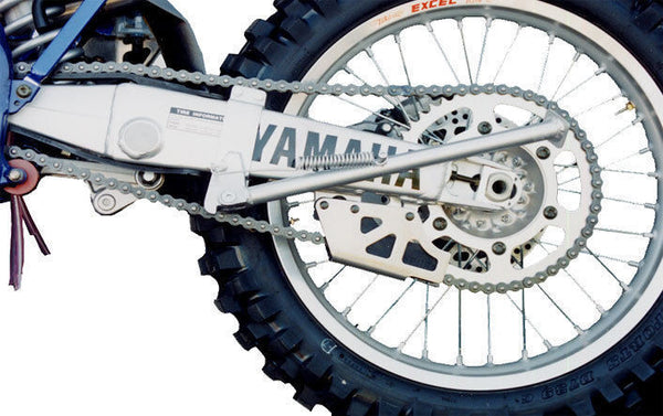 EnduroChicks - Shop for Ricochet Clamp-On Side Stand Part #031 - Mounting pic 2 -  Yamaha YZ125/YZ250/YZ250F (2002-2004), YZ426F (2002), YZ450F (2003-2004)