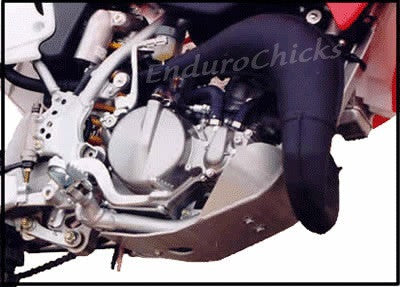 EnduroChicks - Shop for Ricochet Skid Plate Part #100 Mounting pic- Honda CR80/85/85E (2000-2008)