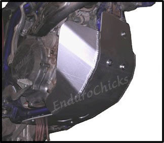 EnduroChicks - Shop for Ricochet Skid Plate Part #243 - Mounting pic 1 - Yamaha WR450F (2003-2006)