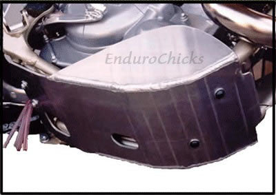 EnduroChicks - Shop for Ricochet Skid Plate, Part #247 - Mounting Pic 1 - Various KTM models (2004-2007)