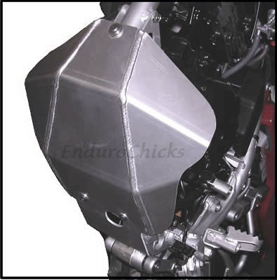 EnduroChicks - Shop for Ricochet Skid Plate Part #254 - Mounting pic 2 - Kawasaki KLR250 (1995-2005)