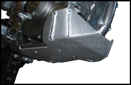 EnduroChicks - Shop for Ricochet Skid Plate Part #276 - Mounting pic 1 - Kawasaki KLX140 (All Years)