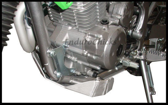 EnduroChicks - Shop for Ricochet Skid Plate Part #276 - Mounting pic 2 - Kawasaki KLX140 (All Years)