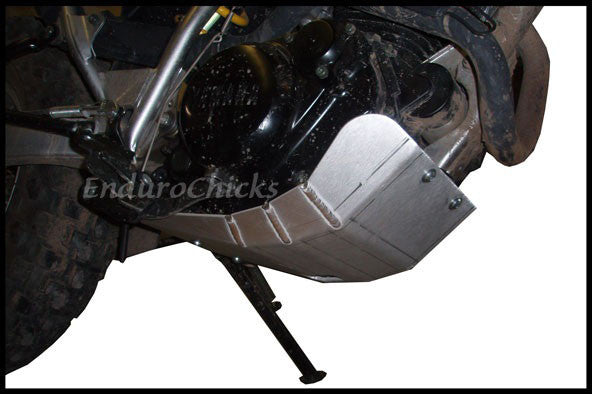 EnduroChicks - Shop for Ricochet Skid Plate Part #278 - Mounting pic1- Yamaha TW200 (All Years)