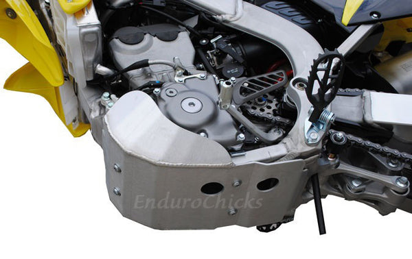 EnduroChicks - Shop for Ricochet Skid Plate Part #287 - Mounting pic2 - Suzuki RMZ250 (2010-2015)