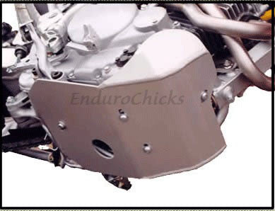 EnduroChicks - Shop for Ricochet Skid Plate Part #412 - Mounting pic 1 - Honda XR250R (1996-2004)