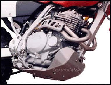 EnduroChicks - Shop for Ricochet Skid Plate Part #412 - Mounting pic 2 - Honda XR250R (1996-2004)