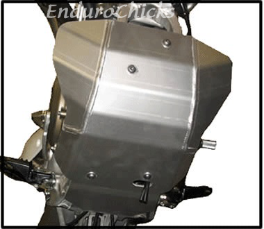 EnduroChicks - Shop for Ricochet Skid Plate Part #454 - Mounting pic1- Honda CRF450R (2002-2004)