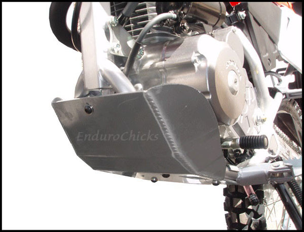 EnduroChicks - Shop for Ricochet Skid Plate Part #455 - Mounting pic1 -  Honda CRF150F (2003-2005) & CRF230F (2003-2014)