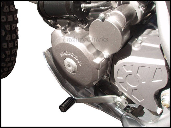 EnduroChicks - Shop for Ricochet Skid Plate Part #455 - Mounting pic2 -  Honda CRF150F (2003-2005) & CRF230F (2003-2014)