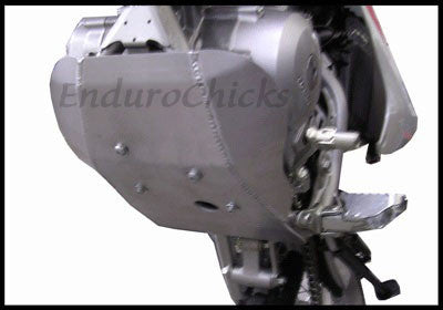 EnduroChicks - Shop for Ricochet Skid Plate Part #459 -  Mounting pic2 - Honda CRF150F (2006-2015)