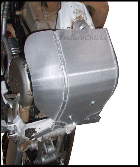 EnduroChicks - Shop for Ricochet Skid Plate, Part #472FC - Mounting Pic 1 - Husqvarna TXC 250 (2010)