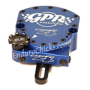 EnduroChicks - Shop for Blue Steering Stabilizer - GPR V4 Dirt Pro Kit - KTM EXC/MXC (2000-2007), Part # 9011-0064