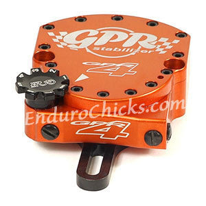 EnduroChicks - Shop for Orange Steering Stabilizer - GPR V4 Dirt Fat Bar - KTM EXC (2008-2009), MXC/SX/XC/XCF/XCW (2008), SXF (2007-2011), Part # 9001-0018