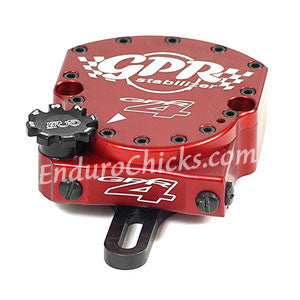 EnduroChicks - Shop for Red Steering Stabilizer - GPR V4 Dirt Fat Bar - Yamaha WR250F (2009-2013) & WR450F (2009-2013)