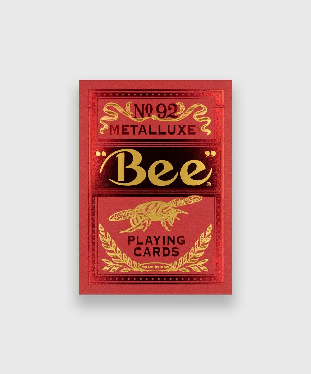 Bee-Red-MetalLuxe-Playing-Cards-Galerie