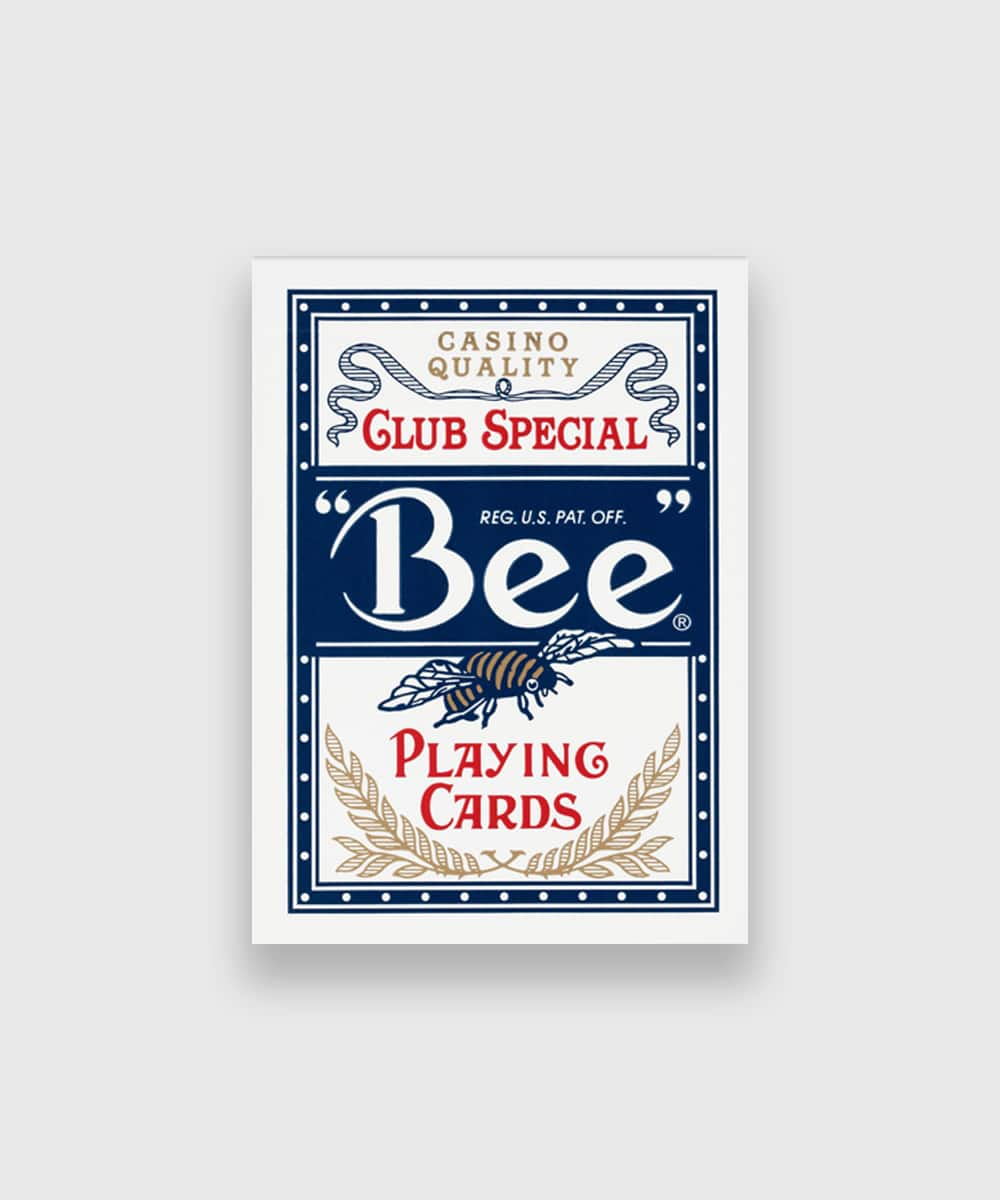 Bee Playing Cards Blue Galerie