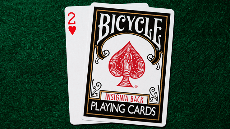 Bicycle Insignia Black Playing Cards Alt1